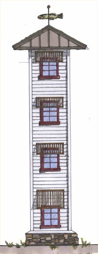 Elevator shaft design by Cindy Trimble Kelly, ASID  706-492-2030  706-455-0216 cell based in Blue Ridge